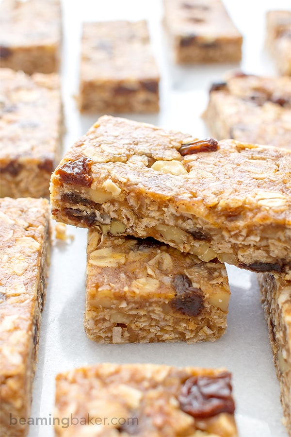 http://beamingbaker.com/no-bake-oatmeal-raisin-granola-bars-vegan-gluten-free/
