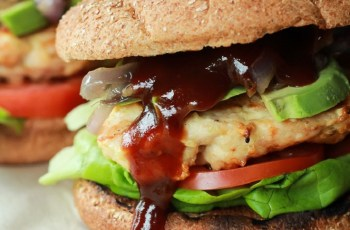 Chicken Burger with Caramelized Onions recipe