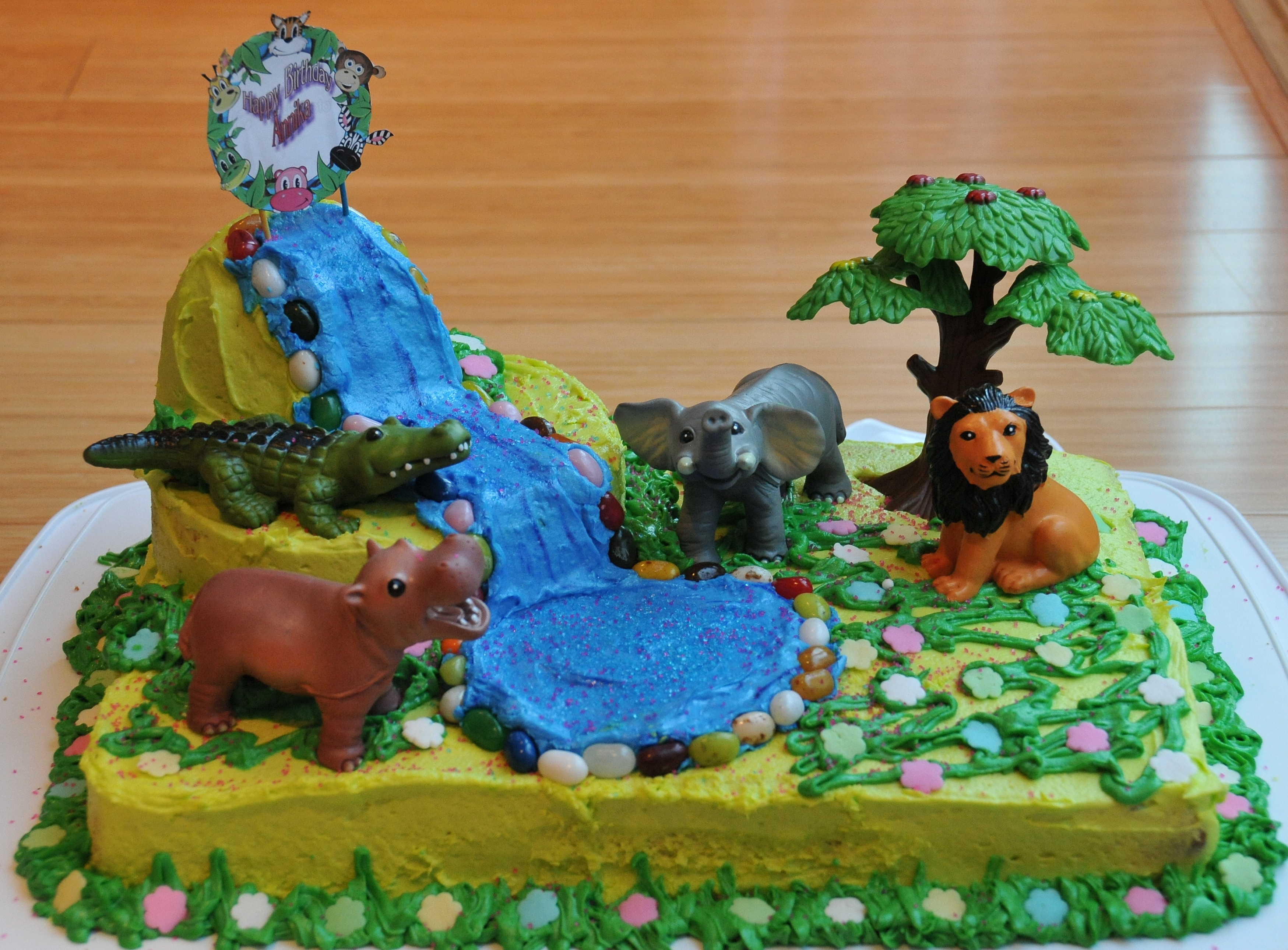 Kids Cake For Animal Themed Birthday Party