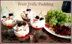 Fruit trifle pudding