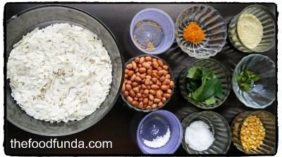 Chivda recipe-ingredients