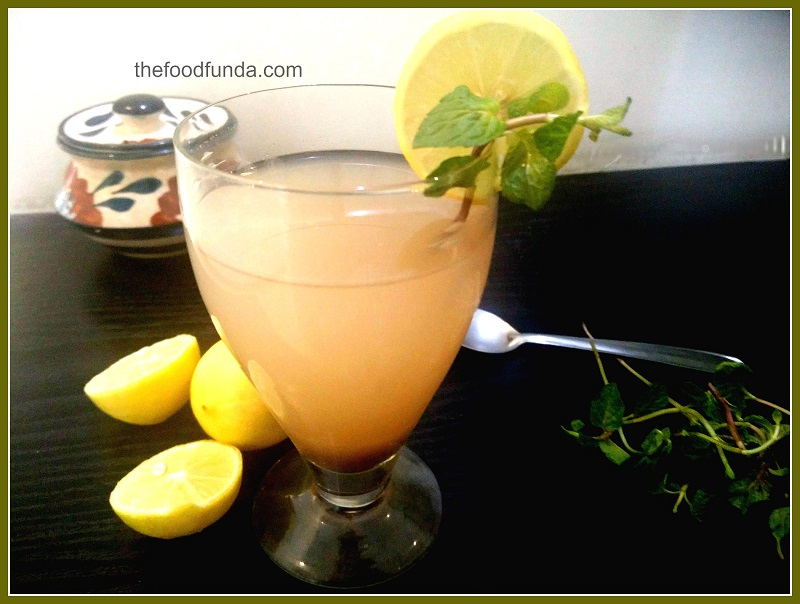 Amla lemon ginger squash