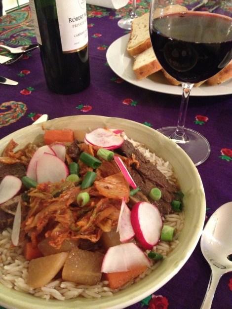 Short Rib Stew with Caramalized Kimchi