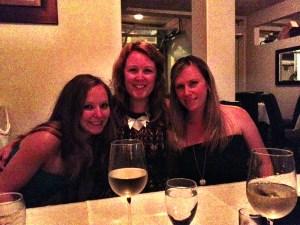 Rebekah, Me, and Jenn braving the heat.