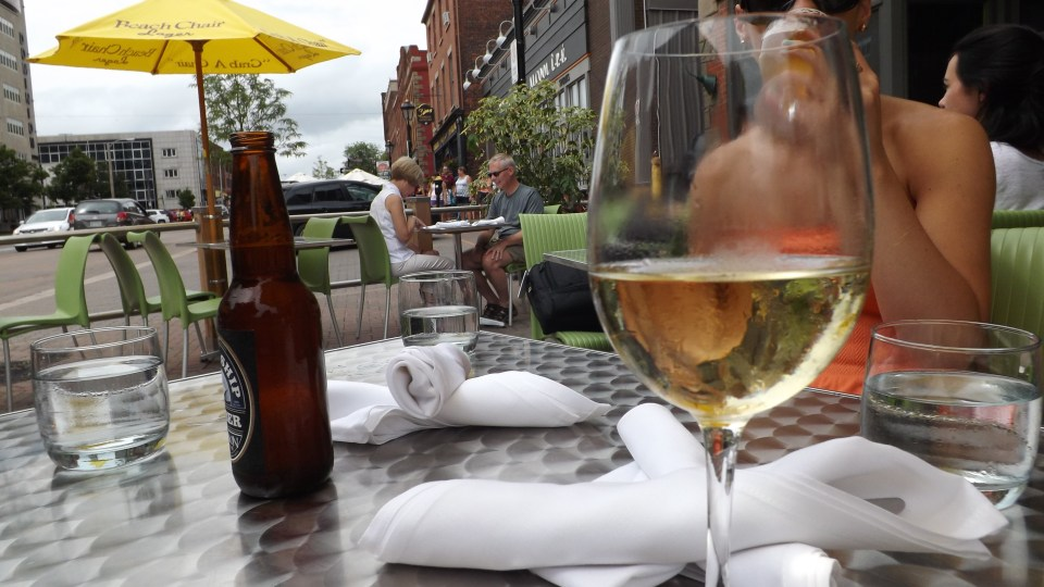 Wine on the street