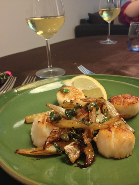 Scallops with Fennel