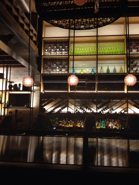 The bar at Agricola Street Brasserie