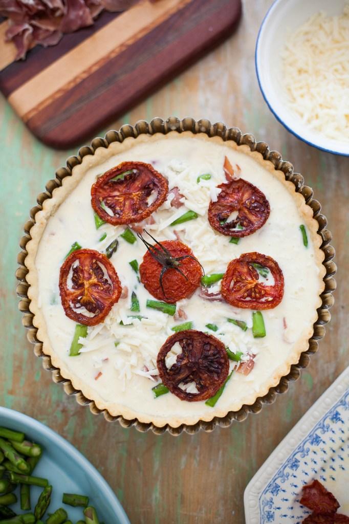 Prosciutto, Asparagus, Fontina Quiche-7 WEB