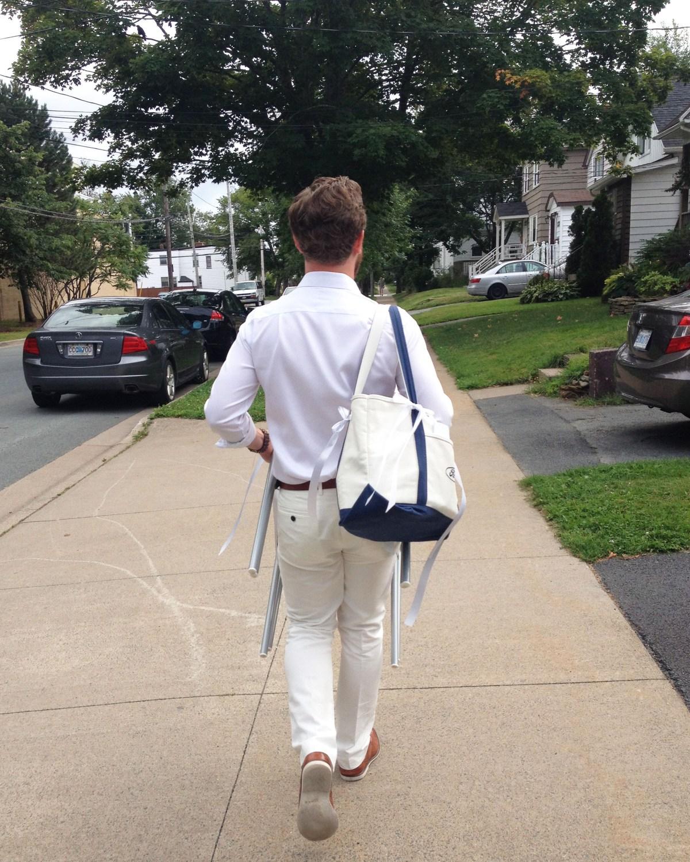 Adam walking