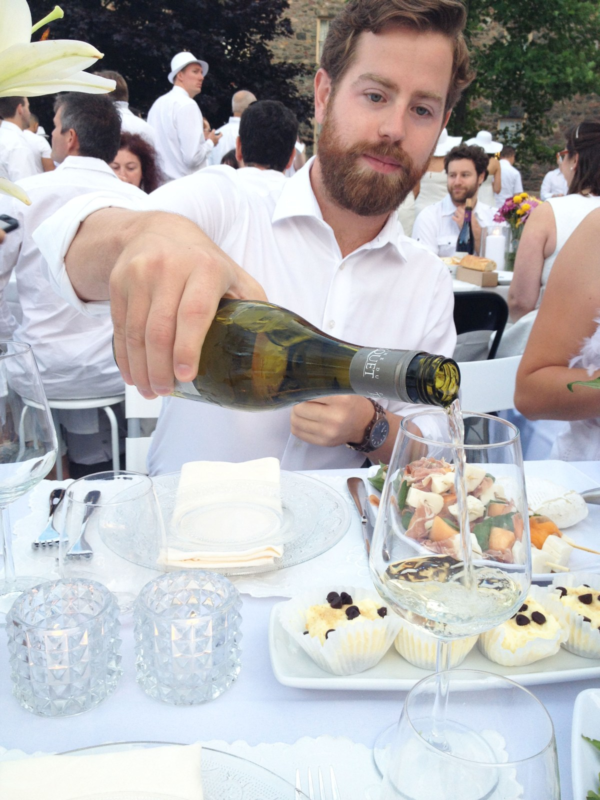 adam with wine