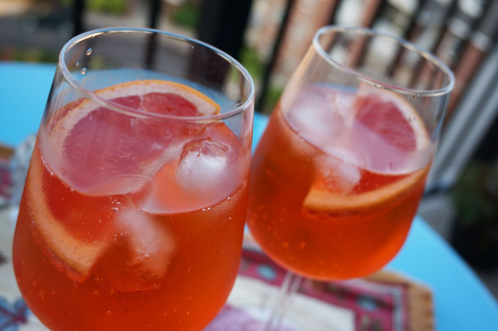 two Glass.Aperol