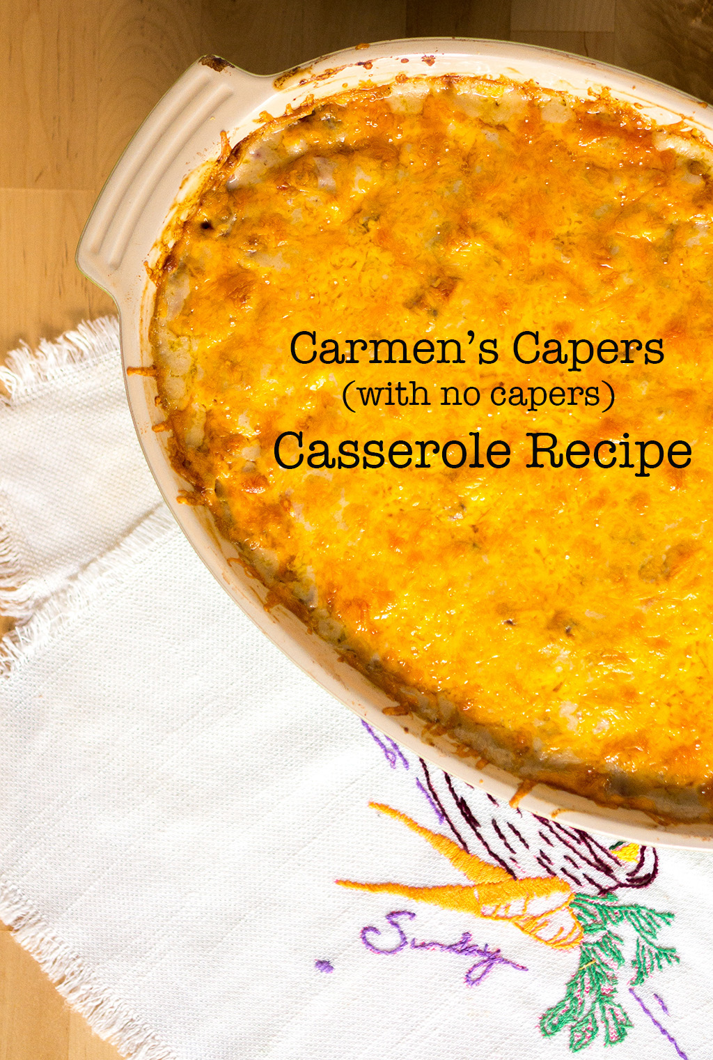 PINTEREST.The Food Girl in Town.Carmens Capers.Full Vertical