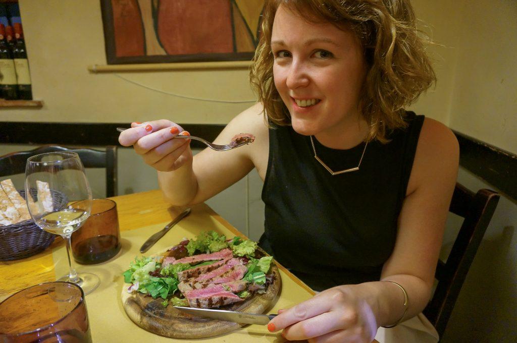 Florentine steak at Osteria Tripperia Il Magazzino in Florence Italy