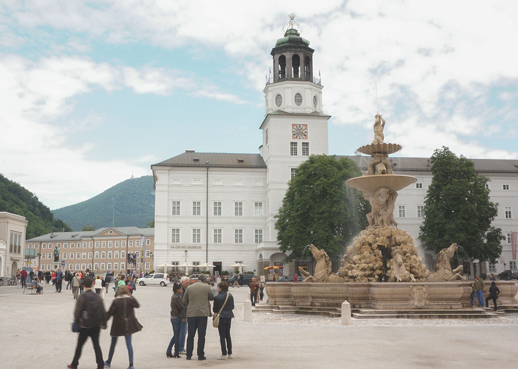 Salzburg main fountain