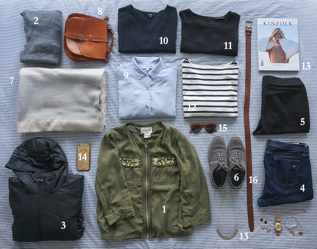 Shoulder Season Flatlay w/Numbers