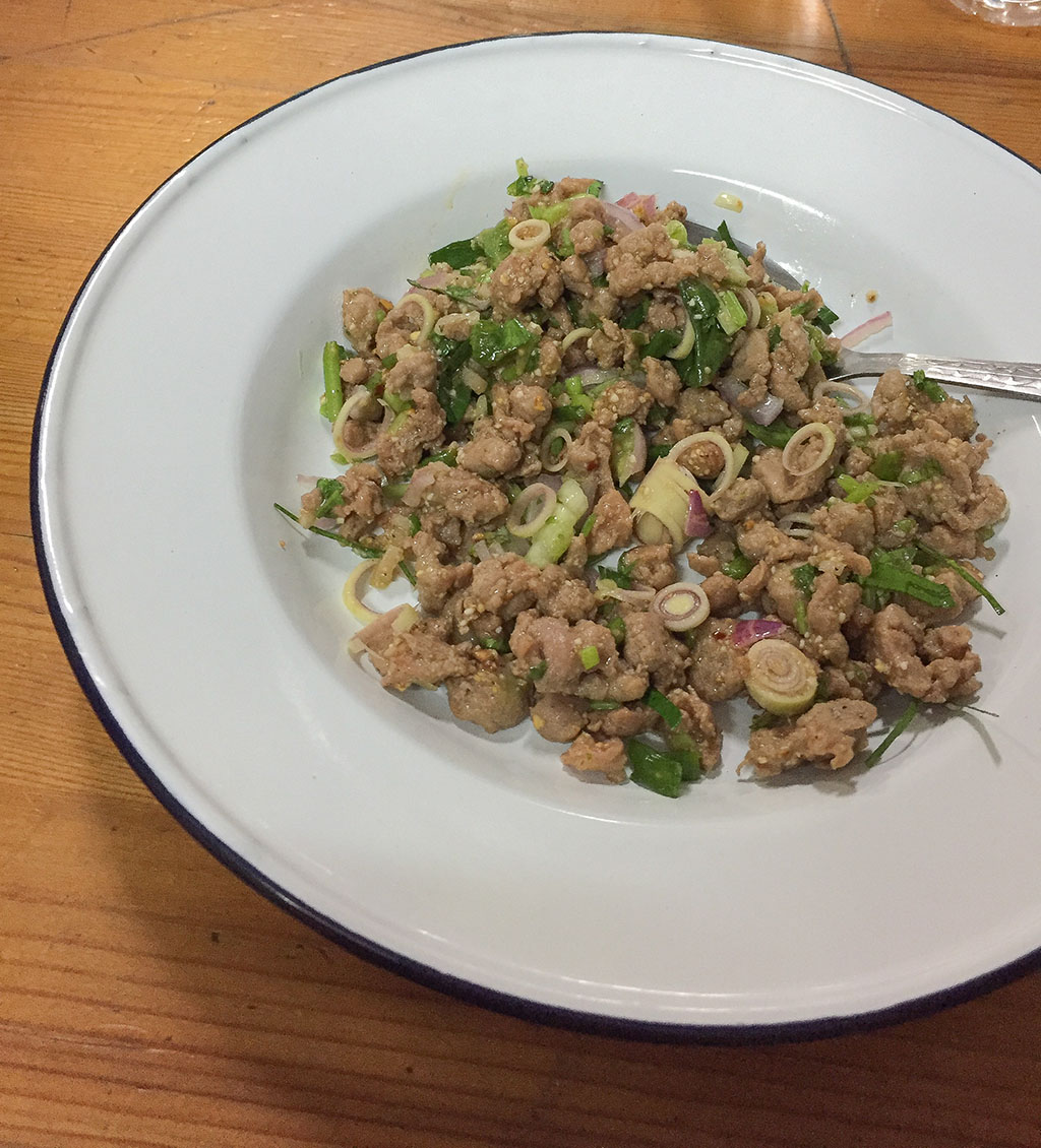 Duck Larb Cooking with Poo