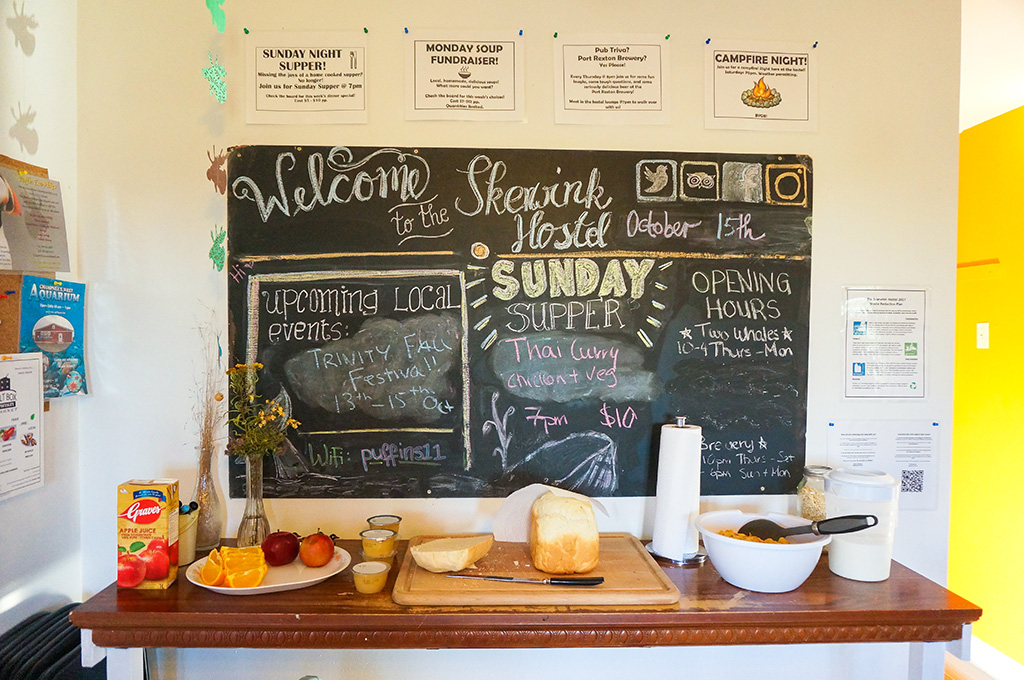 The Food Girl in Town.Skerwink Hostel Dining Room