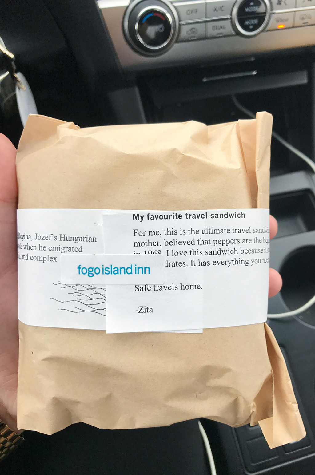 Fogo Island Sandwich Package.The Food Girl in Town