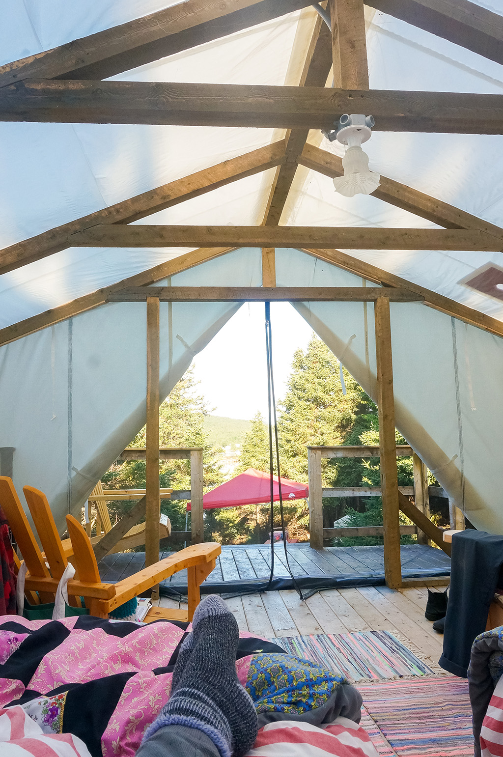 morning Glamping in Newfoundland