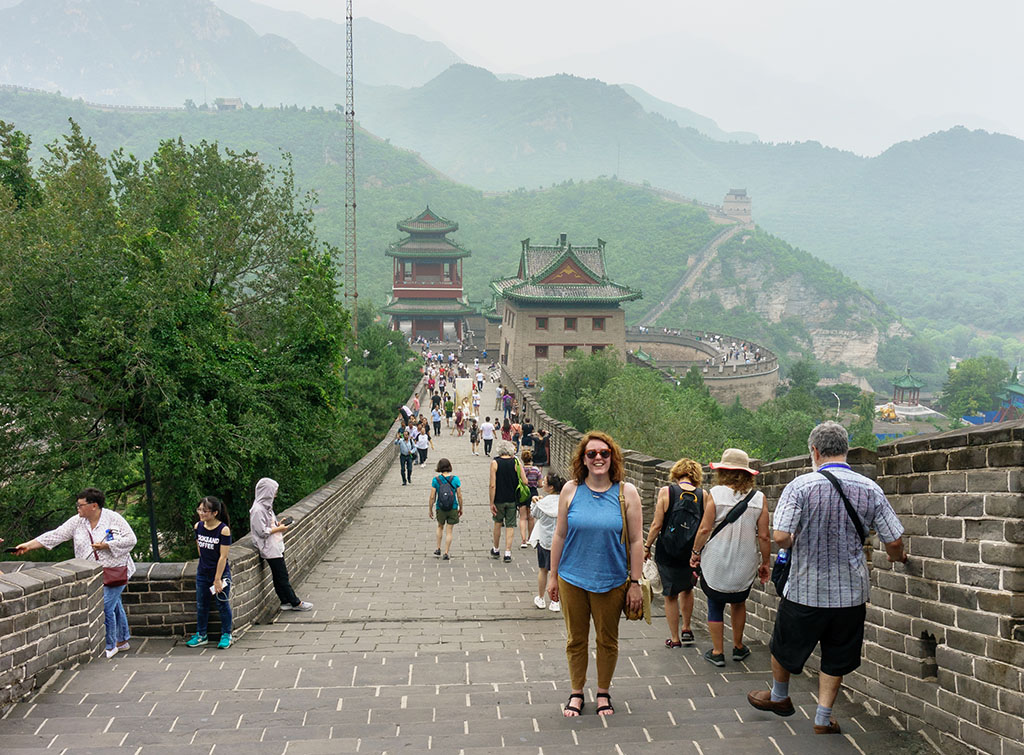Visiting the Great Wall of China Juyong Pass The Food Girl in Town