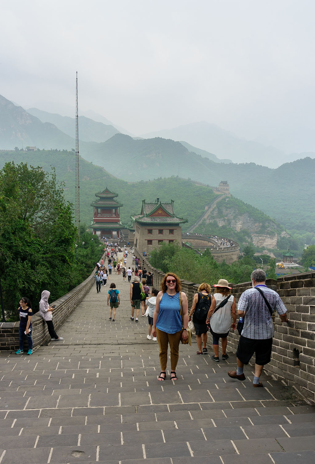 Visiting the Great Wall of China Juyong Pass 13.The Food Girl in Town
