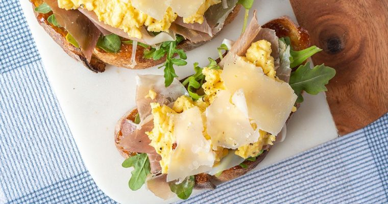 Prosciutto and Parmesan Egg Tartine Recipe