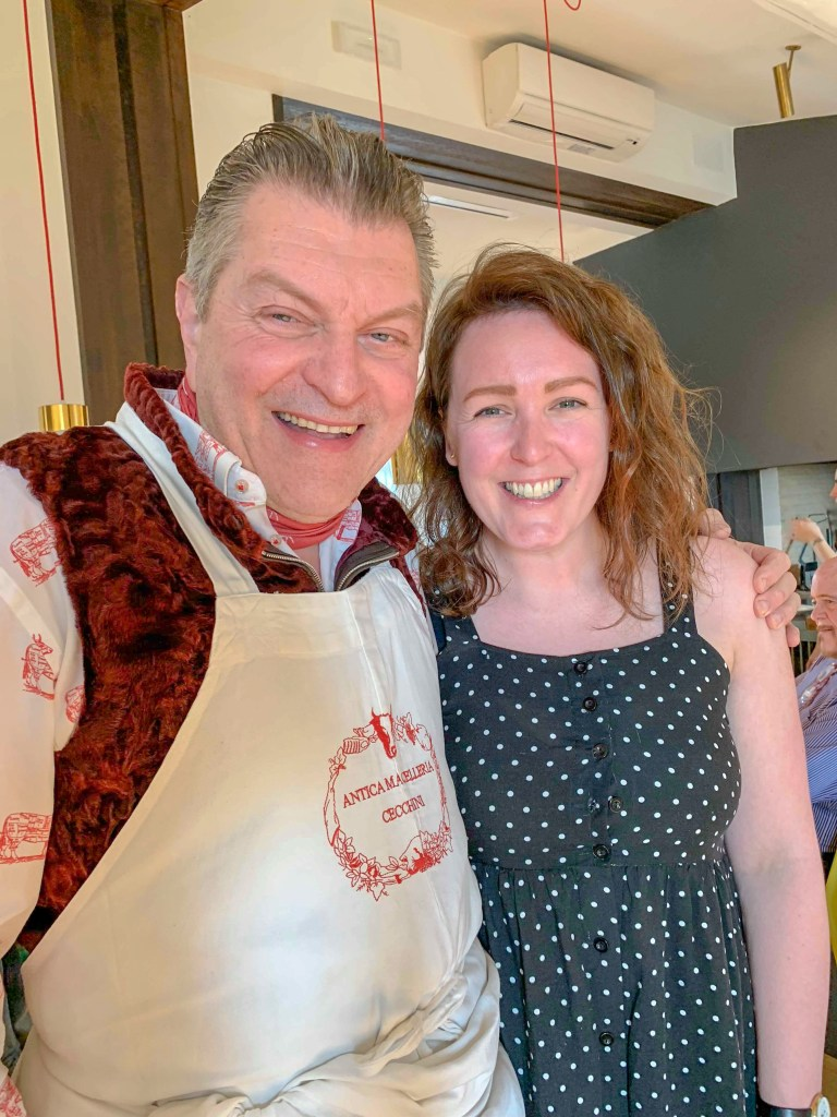 The Food Girl in Town with Dario Cecchini. A look back for the the seventh blogiversary