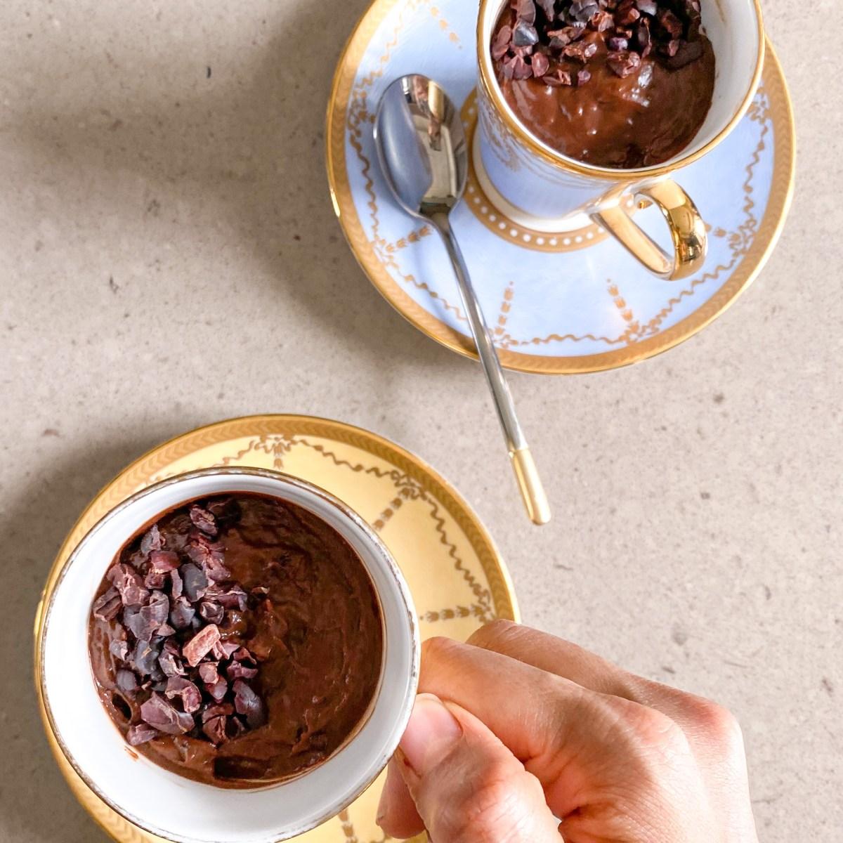 no bake hot chocolate pudding