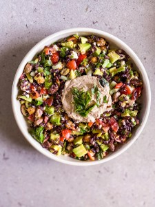 black rice rainbow salad