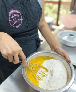 vegan mango pound cake