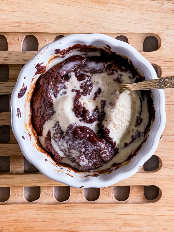 eggless nutella lava cake