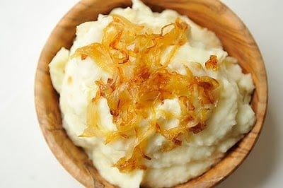 Dining With the Doc: Mashed Potatoes with Caramelized Onions and Goat Cheese