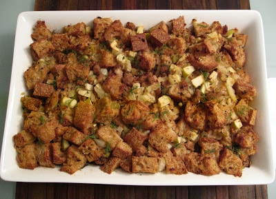 Dining with the Doc: Lightened Up Holiday Stuffing with Fennel, Apple & Turkey Sausage