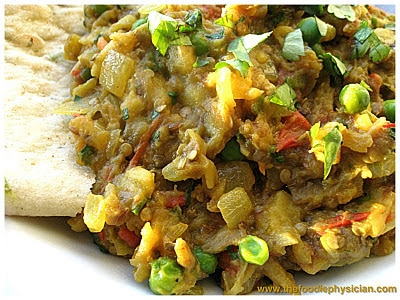 Dining with the Doc: Indian Spiced Eggplant (Baingan Bharta)