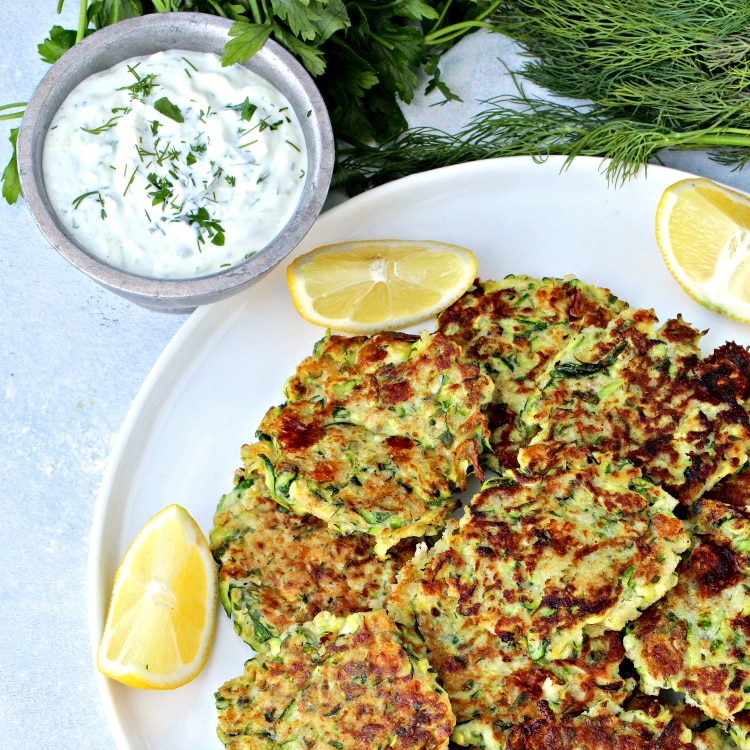 Greek Zucchini Fritters | @foodiephysician