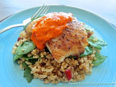 Dining with the Doc: Black Cod with Romesco Sauce