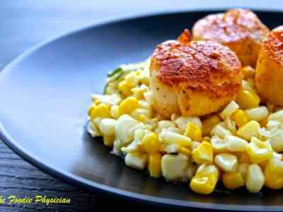 Dining with the Doc: Seared Scallops with Creamy Corn