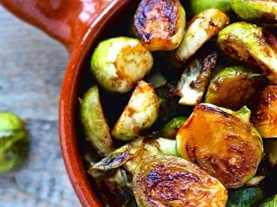 Dining with the Doc: Miso Roasted Brussels Sprouts