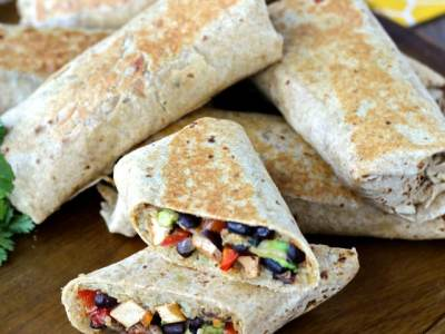 Dining with the Doc: Crispy Chipotle Tofu and Black Bean Burritos
