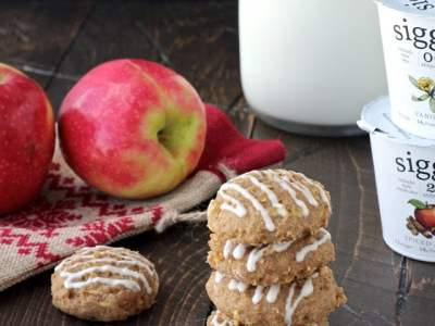 Dining with the Doc: Spiced Apple Skyr Quinoa Cookies with Vanilla Maple Drizzle