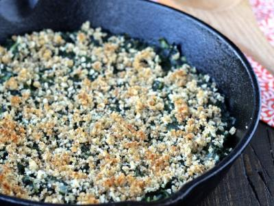 Dining with the Doc: Creamy Spinach Gratin