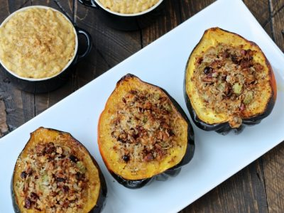 Dining with the Doc: Stuffed Acorn Squash and Pumpkin Spice Rice Pudding