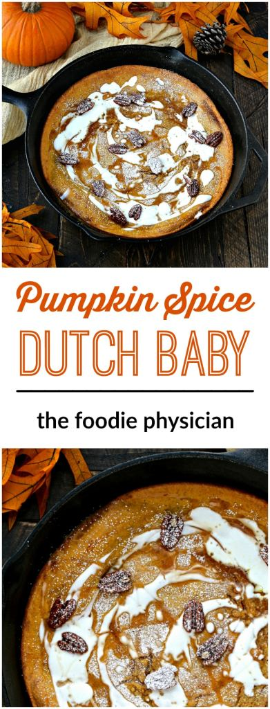 Pumpkin Spice Dutch Baby | @foodiephysician