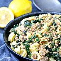 Orecchiette with Kale, Turkey Sausage and Gremolata Breadcrumbs | @foodiephysician