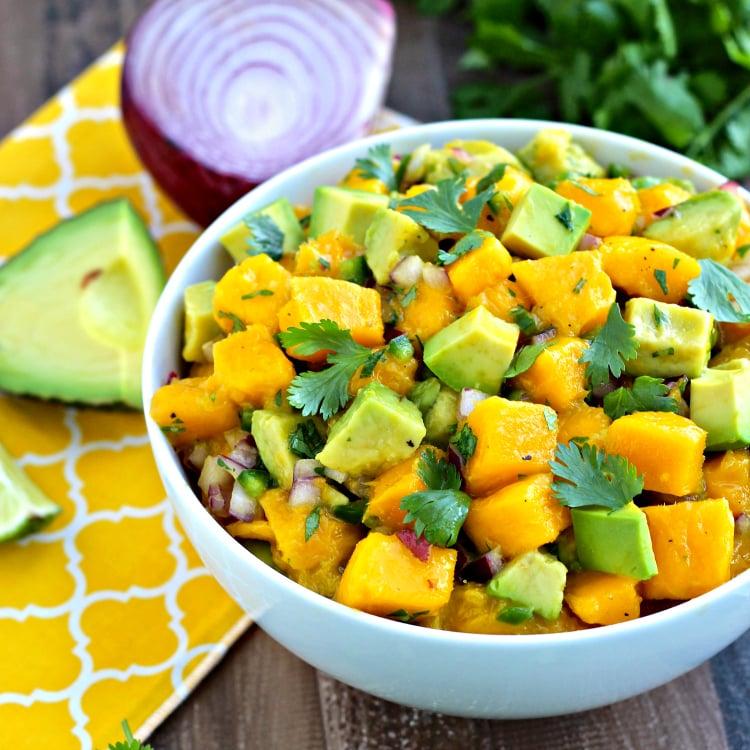 Mango Avocado Salsa | @foodiephysician