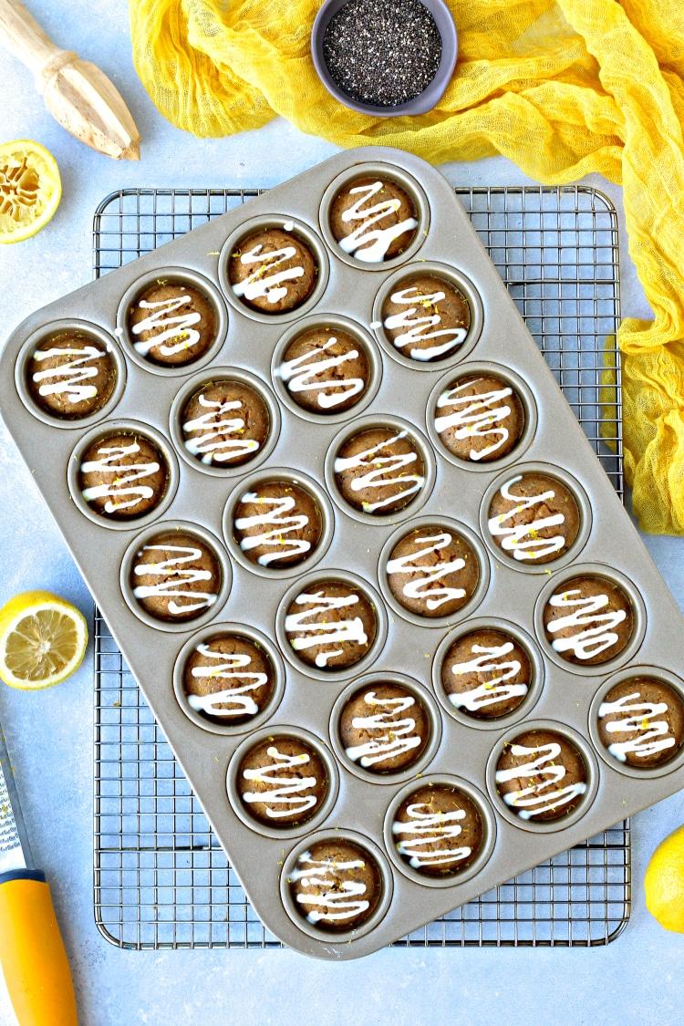 Lemon Chia Snack Muffins | @foodiephysician