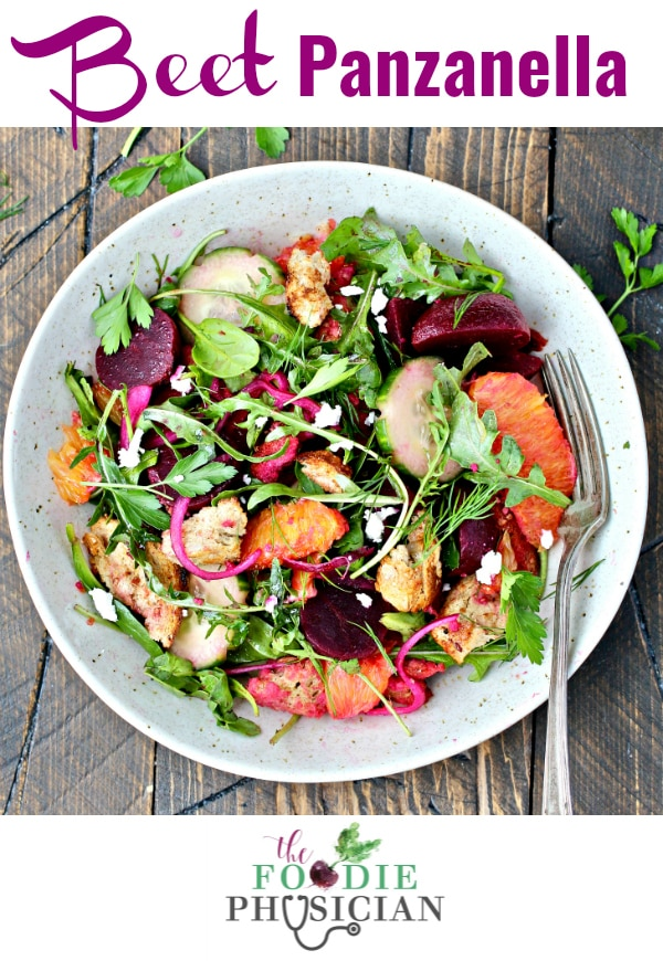 This delicious twist on a classic Panzanella, an Italian bread salad, uses pickled beets instead of tomatoes.