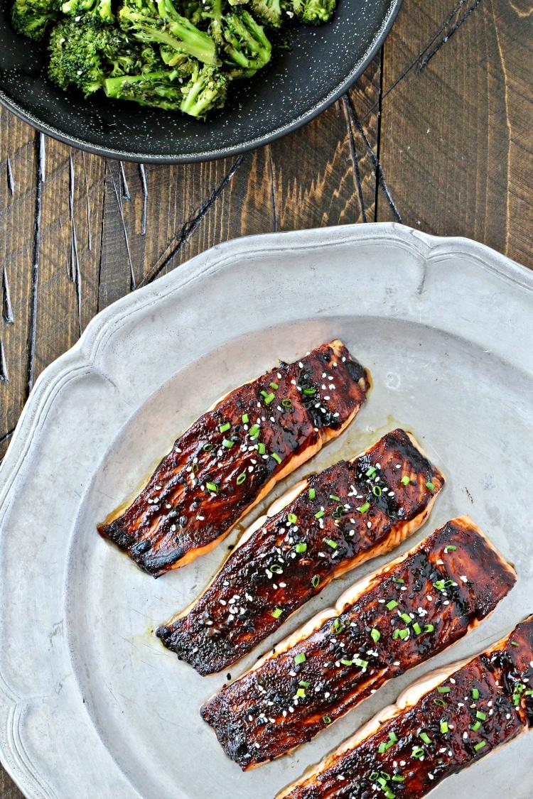 Miso Maple Glazed Salmon