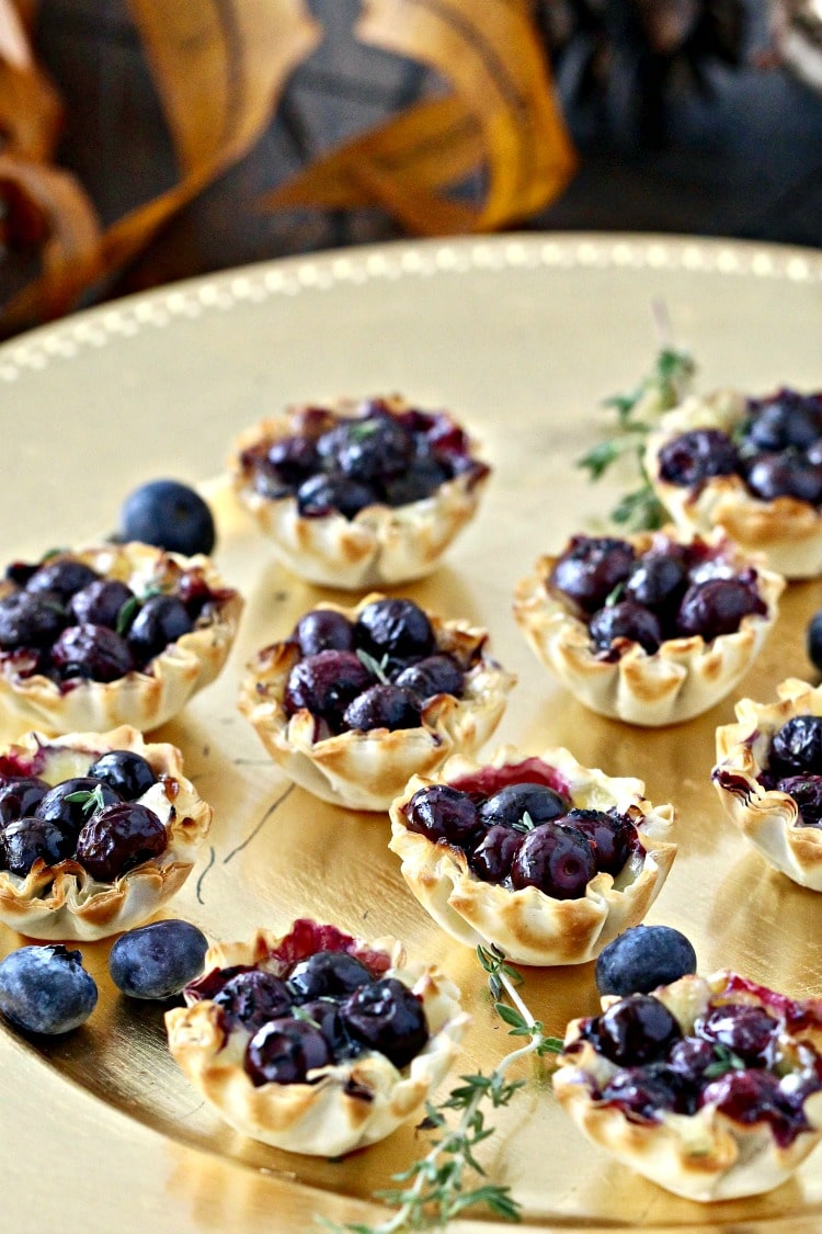 Blueberry Brie Bites