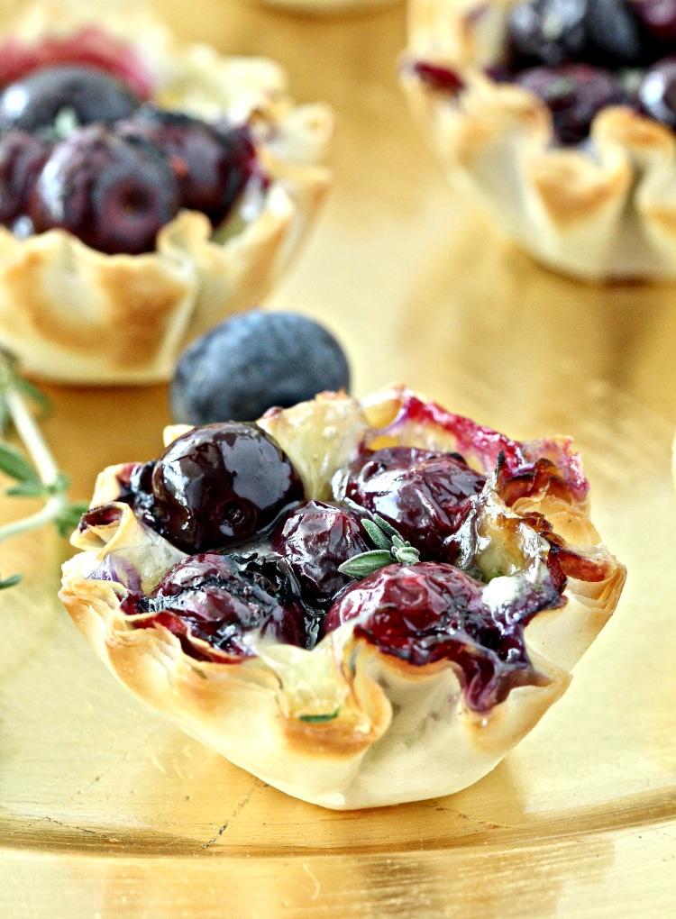 Blueberry Brie Bites
